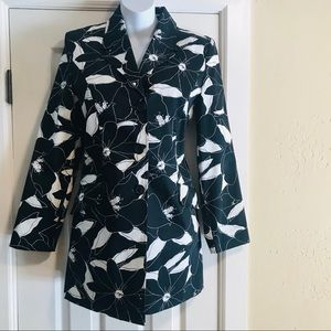 NWOT GEORGE Floral Stretch TRENCH Coat- Size 4